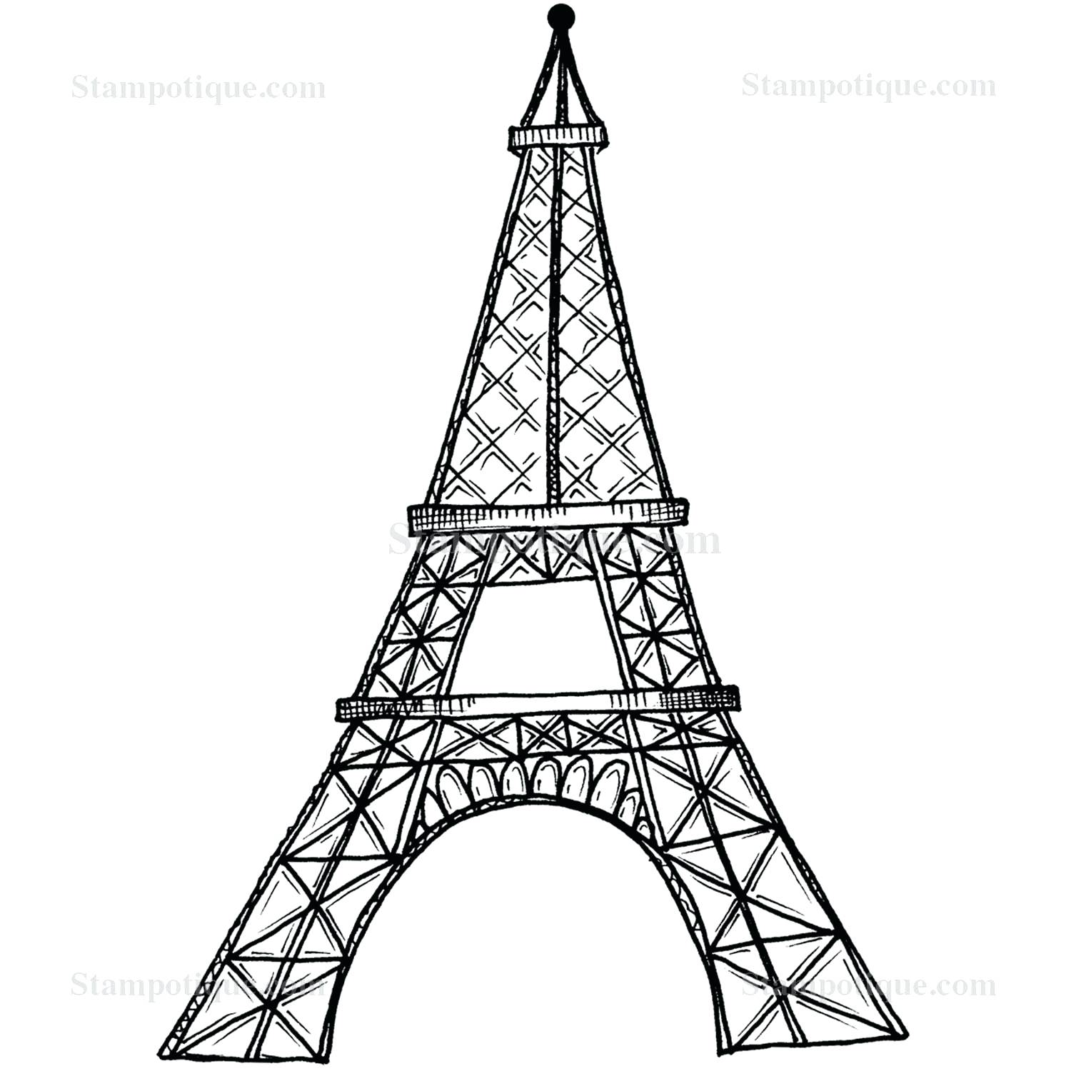 1500x1500 Coloring Eiffel Tower Coloring