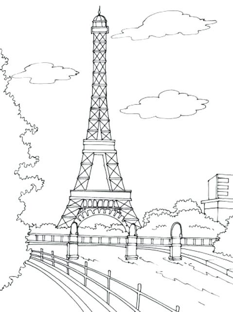 479x640 Coloring Pages Of The Eiffel Tower How To Draw The Tower Step By