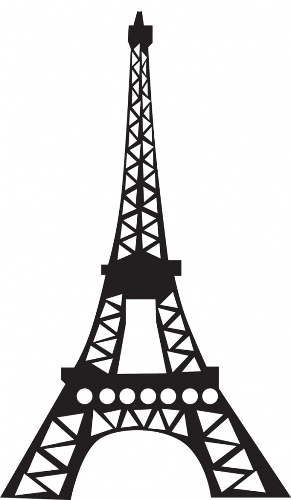 596x1024 Drawing Of Eiffel Tower