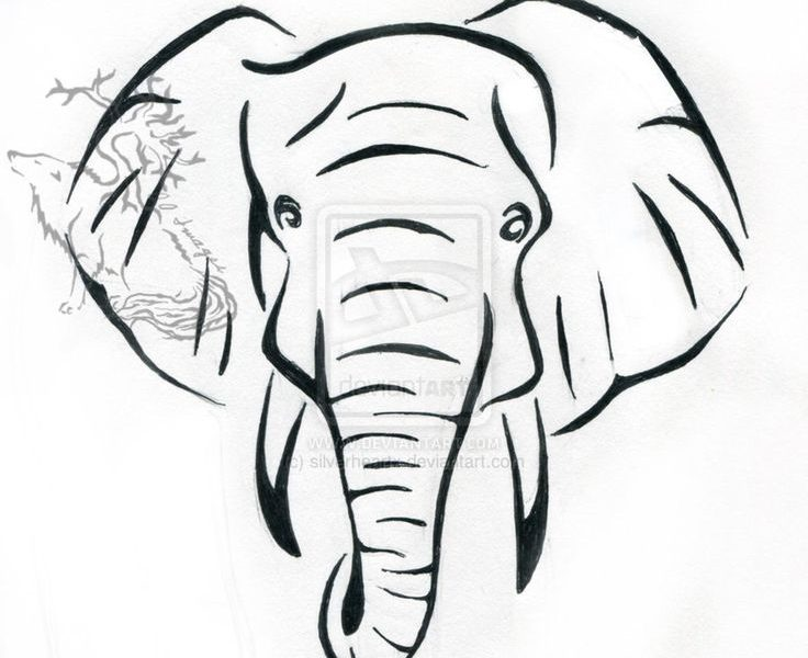Coloriage Elephant Simple.Simple Elephant Drawing At Getdrawings Com Free For Personal Use