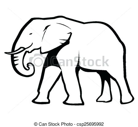 Simple Elephant Drawing At Getdrawingscom Free For Personal Use