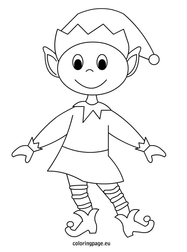 Simple Elf Drawing