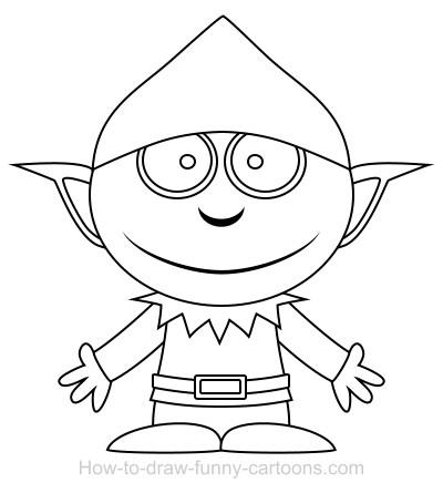 400x445 Drawing An Elf Cartoon