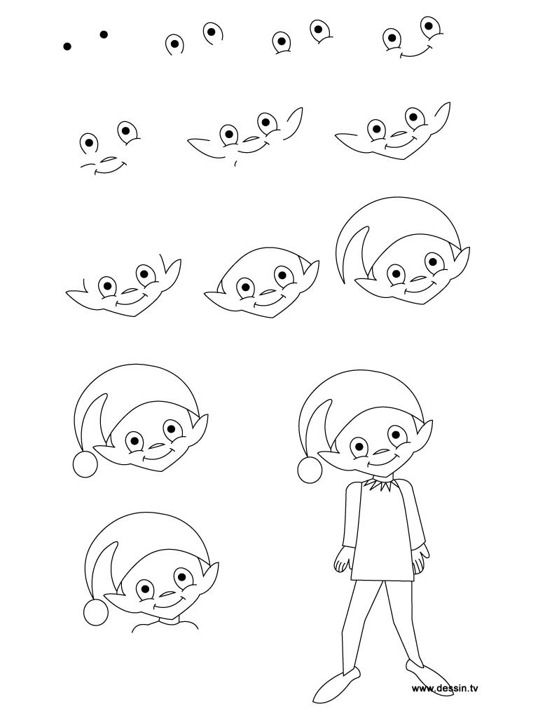 768x1024 Drawing Elf