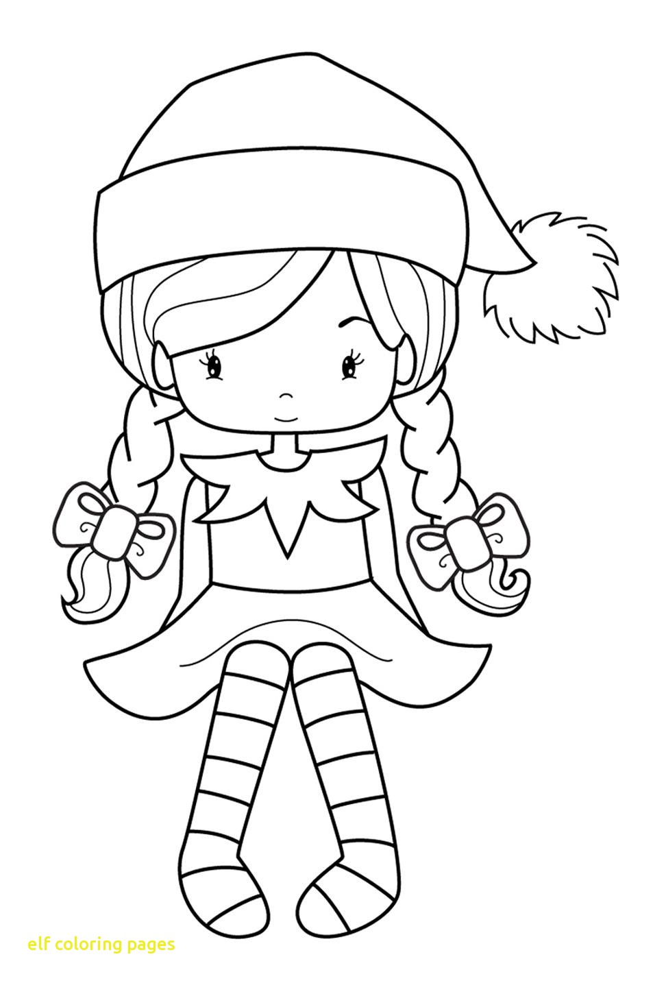972x1434 Elf Coloring Pages With Simple Elf Coloring Page