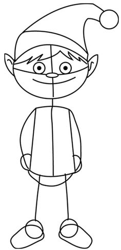 236x488 How To Draw Santa S Christmas Elf With Step By Step Elves Drawing