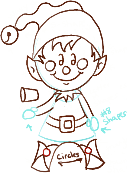 420x574 How To Draw A Christmas Elf With Easy Steps Drawing Tutorial