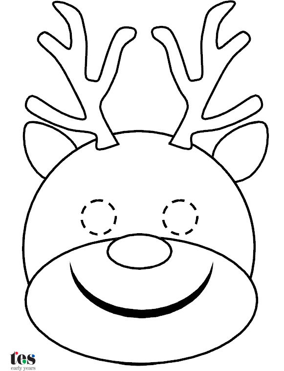 581x759 Simple Masks For Christmas Roleplay And Storytelling