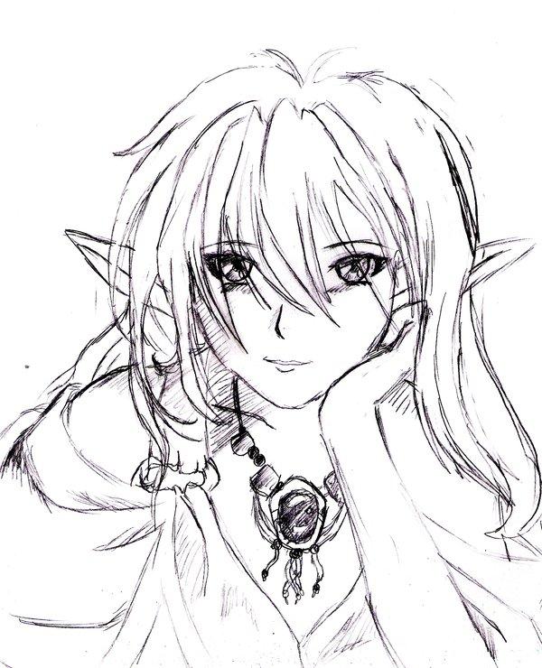 600x740 Anime Elf Girl By 7474