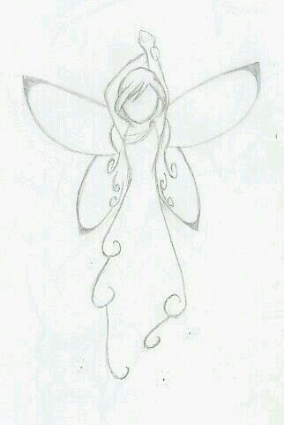 Simple Fairy Drawing