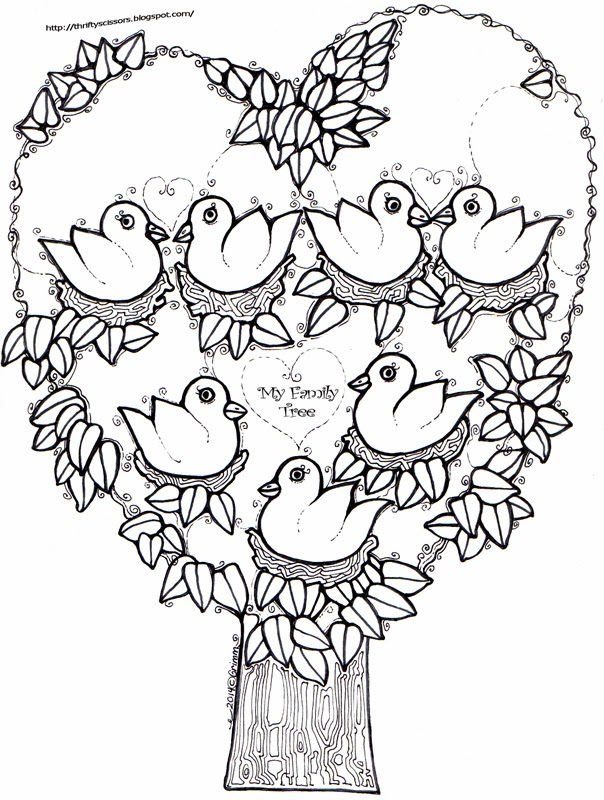 604x800 A Family Tree Craft For Grandparent's Day Thrifty Scissors
