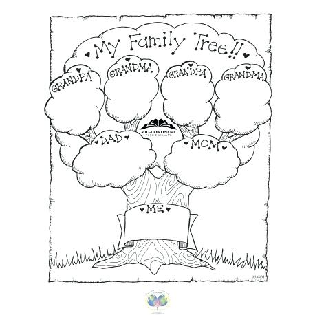 Simple family tree drawing at free for for Preschool family tree template