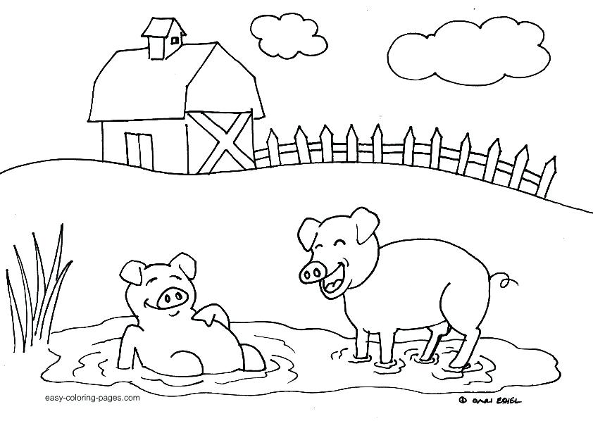 842x598 Farm Animal Colouring Pages Print Simple Colori On Community