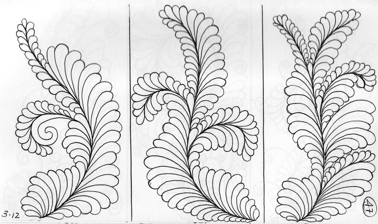 1600x949 Luann Kessi Quilting Sketch Book Feathers