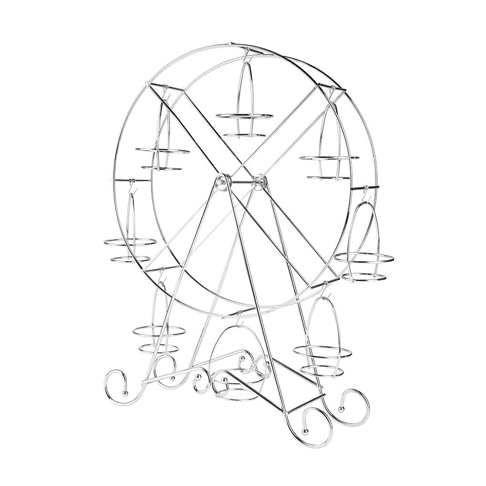 1000x1000 Ferris Wheel 8 Cups Stainless Steel Cupcake Stand Holder Wedding