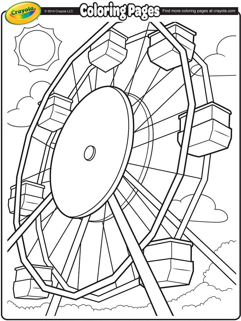 810x1080 Ferris Wheel Coloring Page