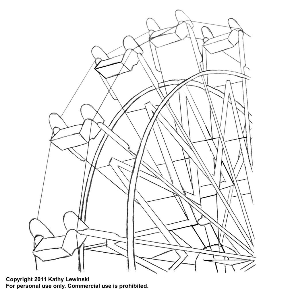 Simple Ferris Wheel Drawing at GetDrawings.com | Free for personal ...