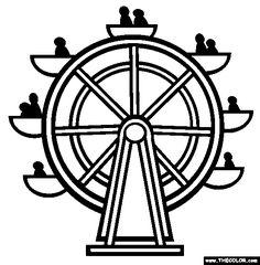 236x240 Ferris Wheel Drawing