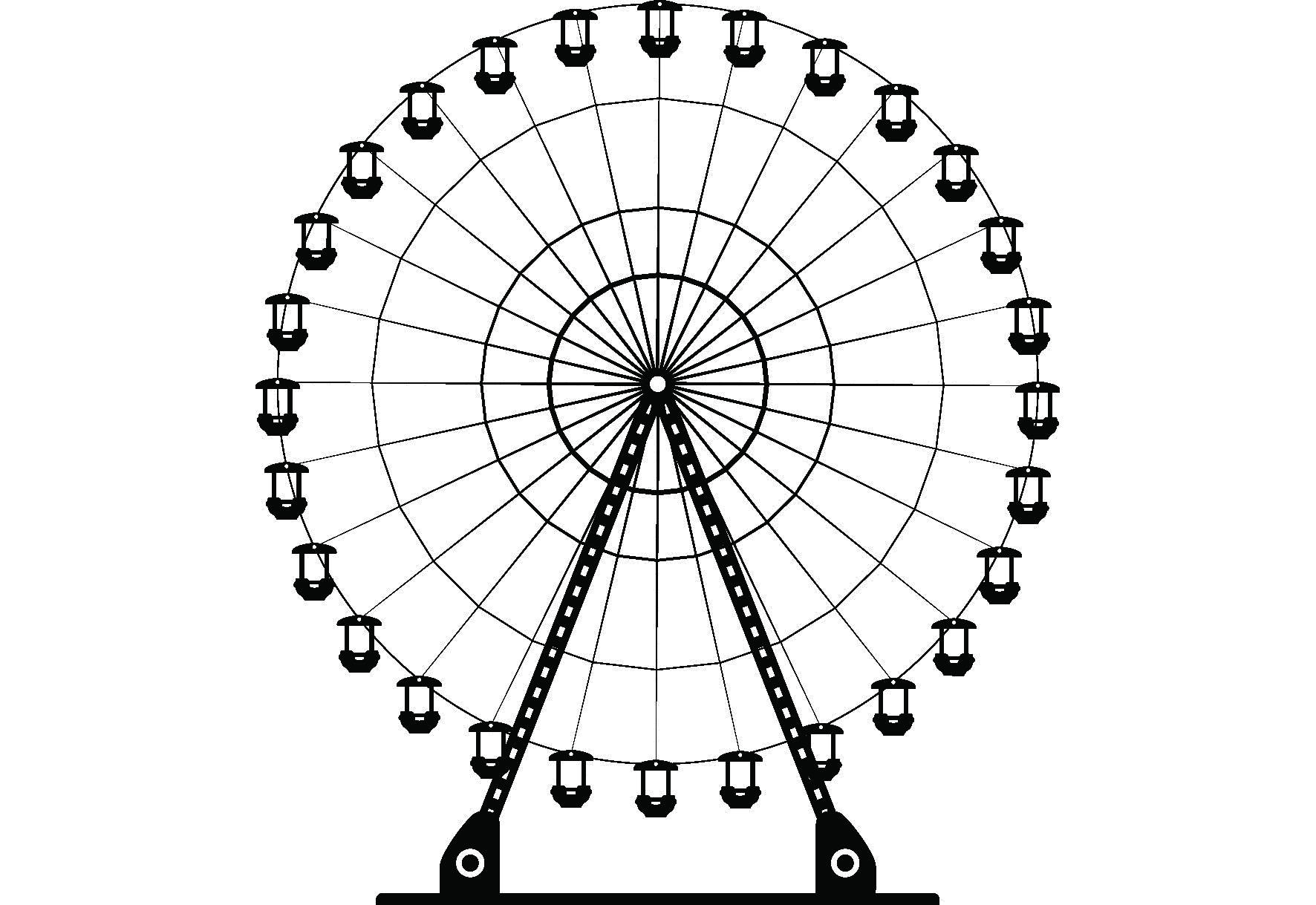 Simple Ferris Wheel Drawing At Getdrawings Free Download