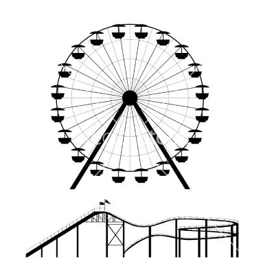 380x400 Ferris Wheel Silhouette Clip Art