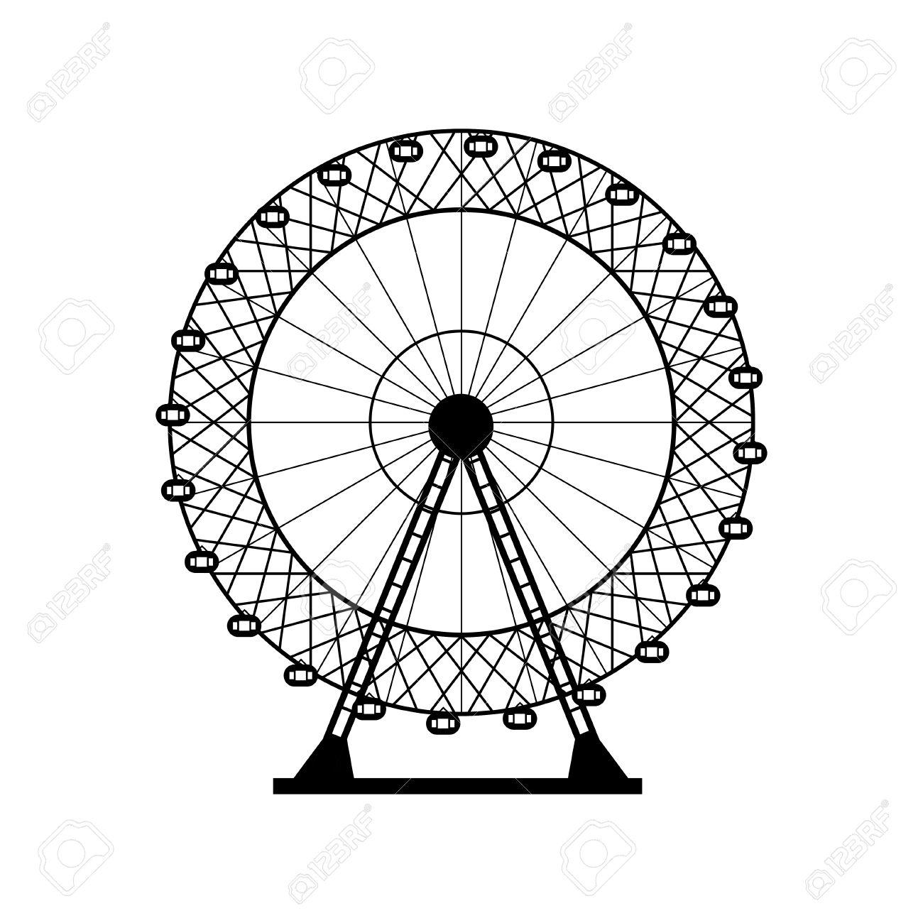 1300x1300 Ferris Wheel Clipart Background