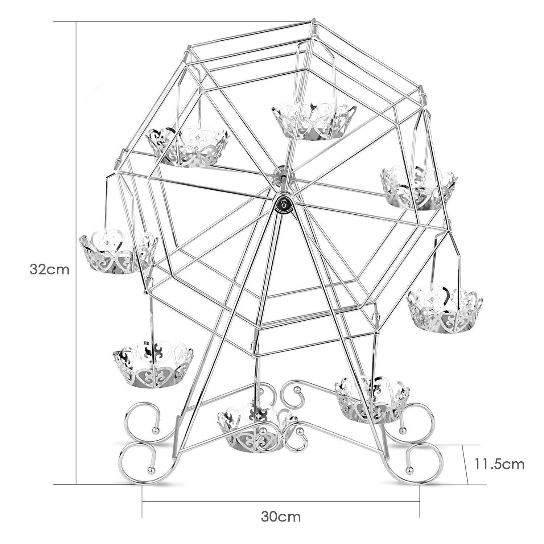 1500x1500 Intey Silver Cupcake Stand, Ferris Wheel Cupcake