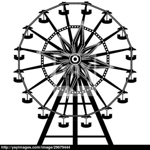 512x512 Ferris Wheel Vector Vector