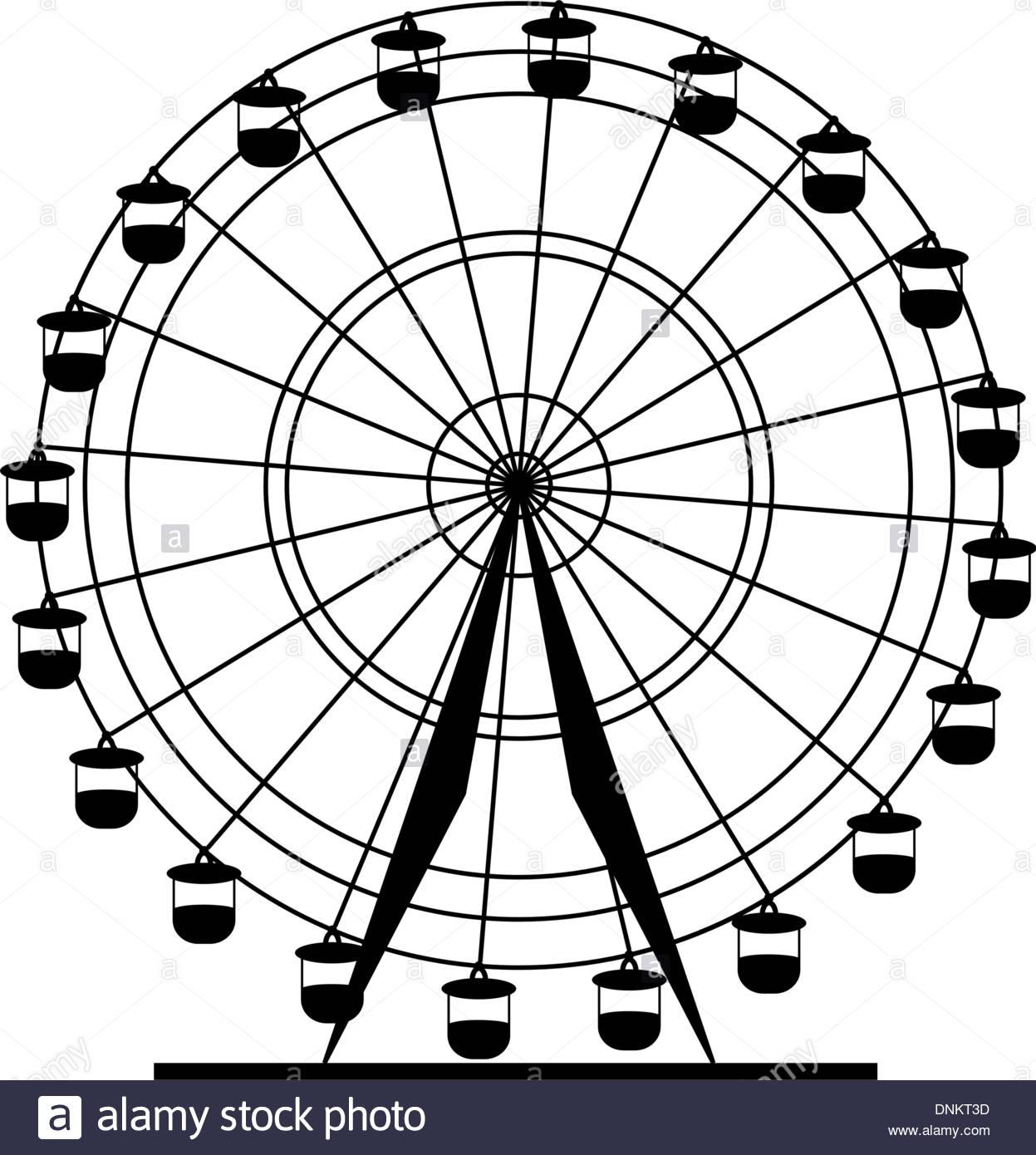 1247x1390 Vintage Ferris Wheel Drawing