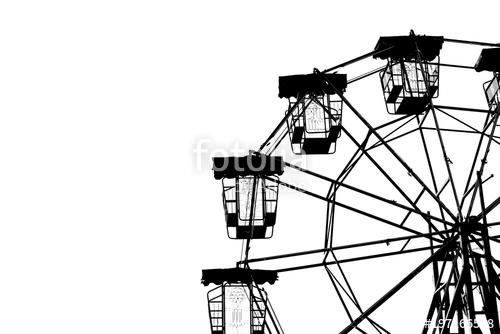 500x334 Vintage Ferris Wheel Silhouette. Stock Photo And Royalty Free