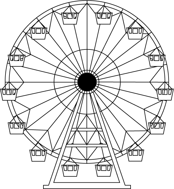 605x657 Ferris Wheel Drawing Ferris Wheel Let's Spruce Up The Place