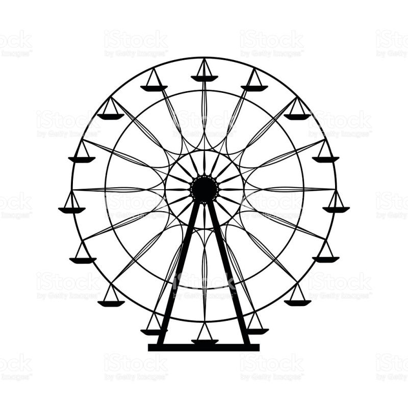 800x800 Ferris Wheel Silhouette Clip Art