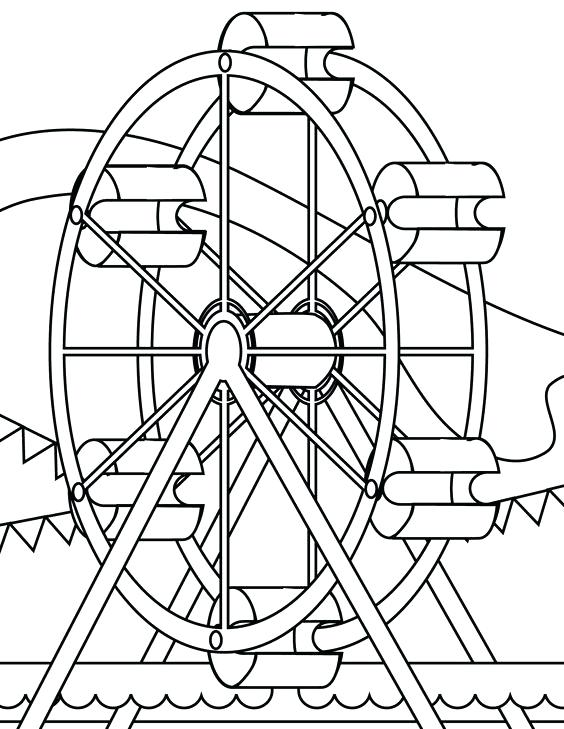 564x729 Carnival Coloring Page Carnival Rides Coloring Pages Carnival