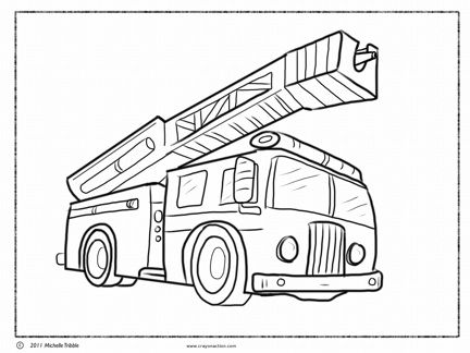 432x324 Fire Truck Coloring Page Coloring Pages Fire