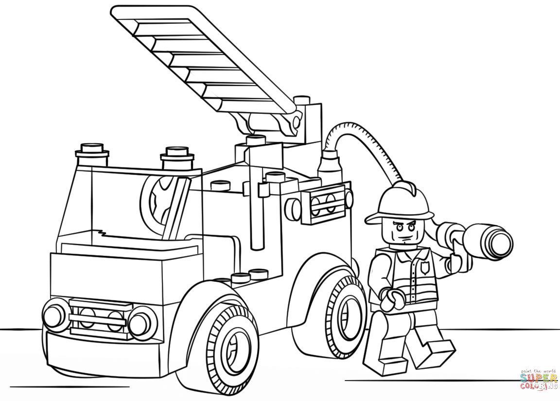 1152x824 Fire Engine Coloring Pages
