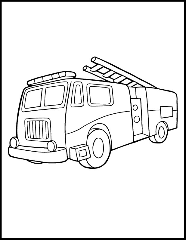 Simple Fire Truck Drawing At Getdrawings Com Free For