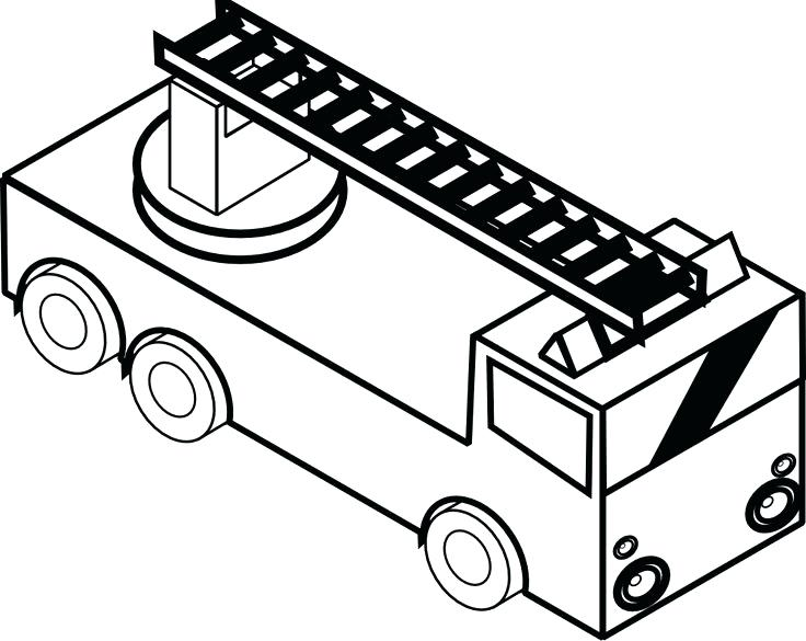 736x585 Idea Free Fire Truck Coloring Pages Printable For Free Printable