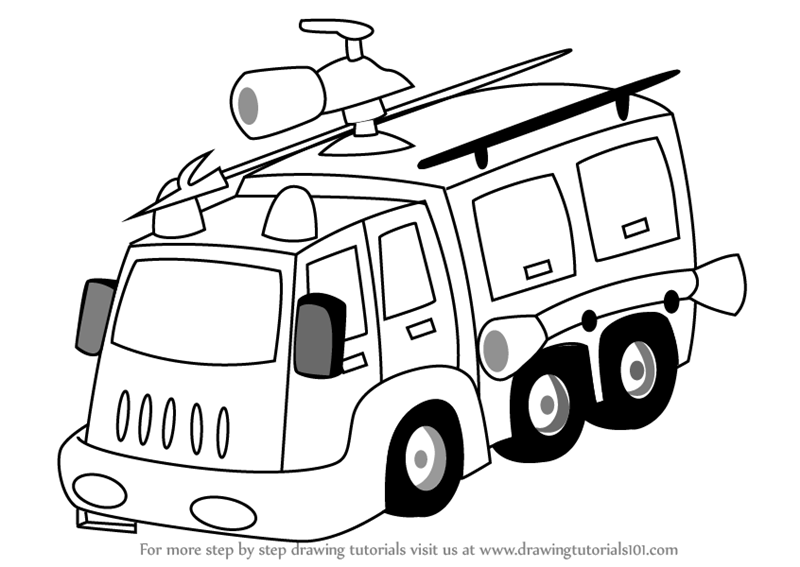 800x567 Learn How To Draw A Fire Fighter Truck (Trucks) Step By Step