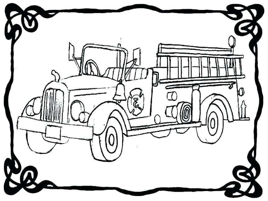 863x647 This Is Fire Truck Coloring Pages Images Free Printable Fire Truck