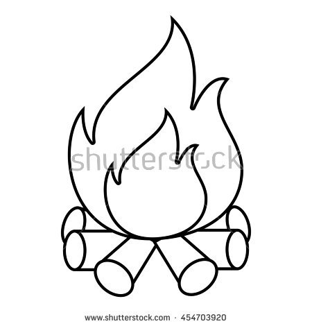 450x470 How To Draw Fire