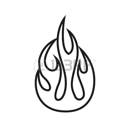 450x450 Simple Thin Line Flame Icon Vector Royalty Free Cliparts, Vectors