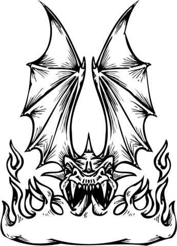 345x480 Dragon Fire Breathing Coloring Page Free Printable Coloring Pages