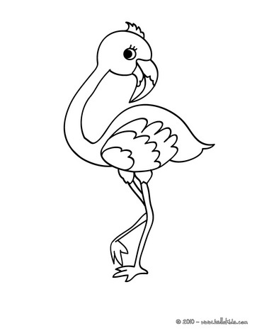 Simple Flamingo Drawing