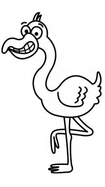 Simple Flamingo Drawing At Getdrawings Com Free For Personal Use