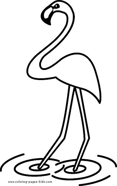 Simple Flamingo Drawing at GetDrawings.com | Free for personal use ...