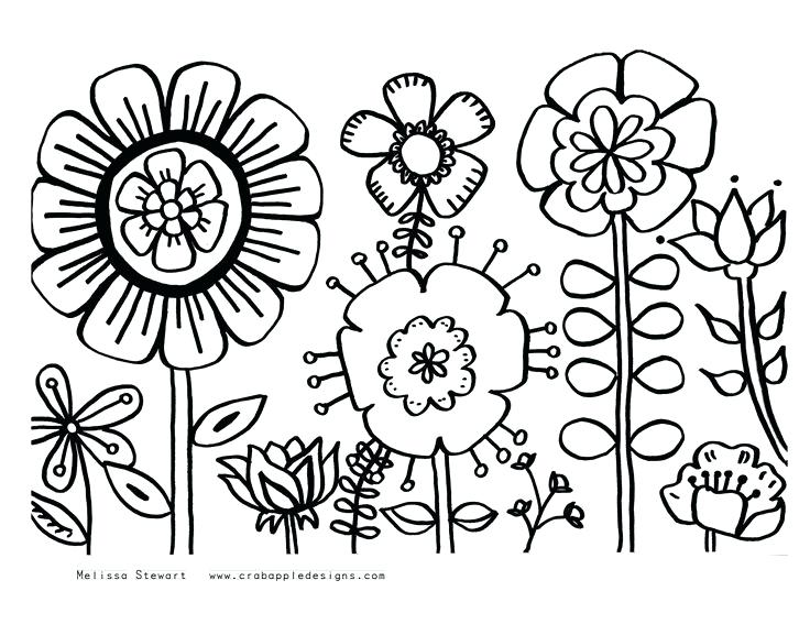 Simple Floral Drawing At Getdrawings Com Free For Personal Use