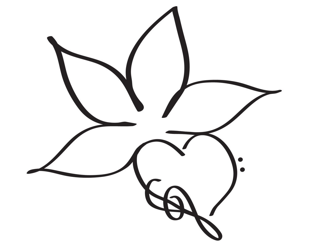 Simple Flower Drawing At Getdrawings Free For Personal Use