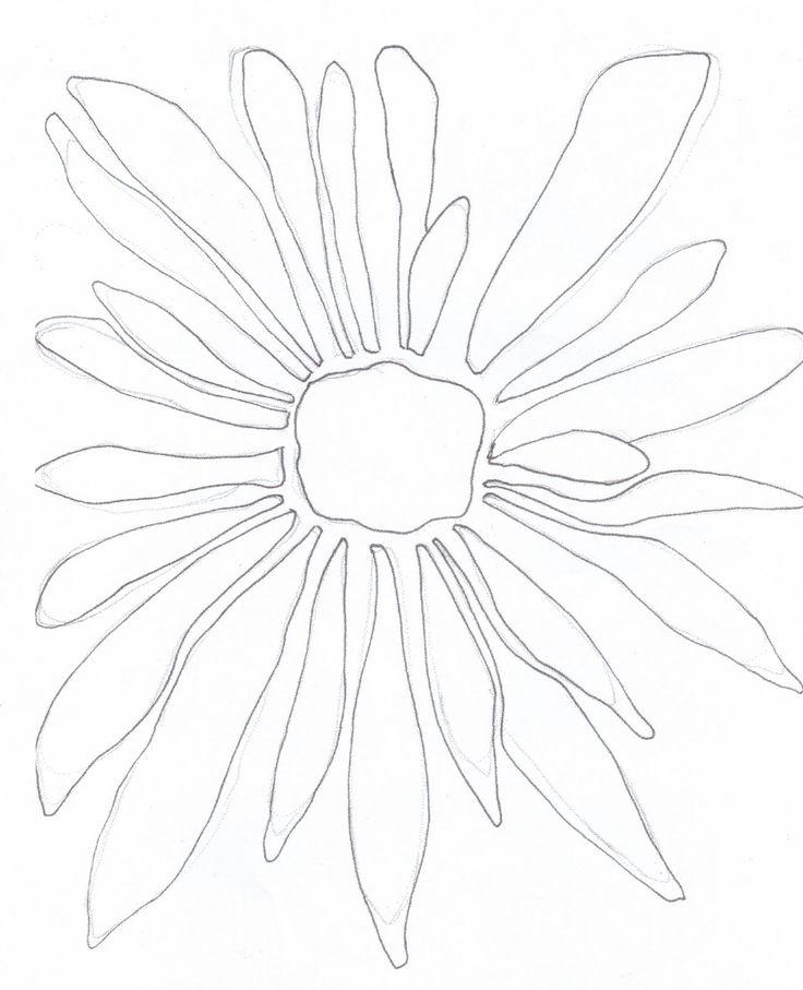736x907 Photos Simple Flower Line Art,
