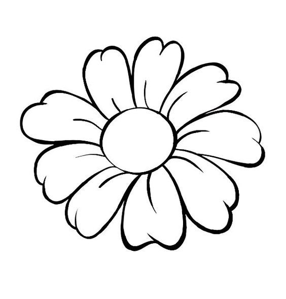 Line Drawing Flower Images : Simple flower line drawing at getdrawings free for