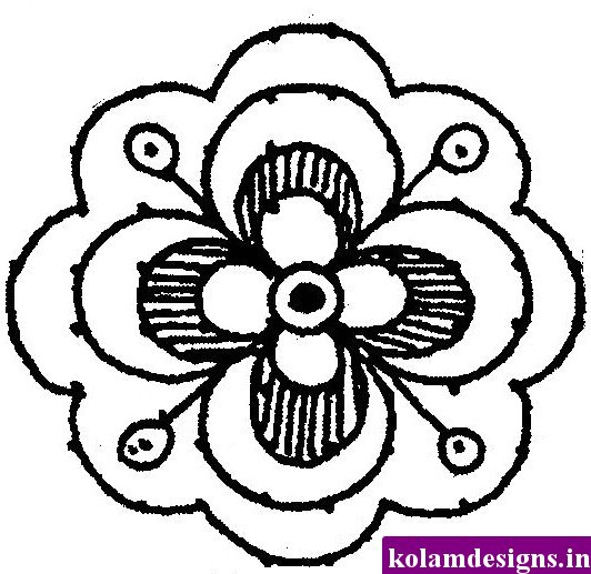 Simple flower pattern drawing at getdrawings free for personal 532x517 drawn design easy mightylinksfo