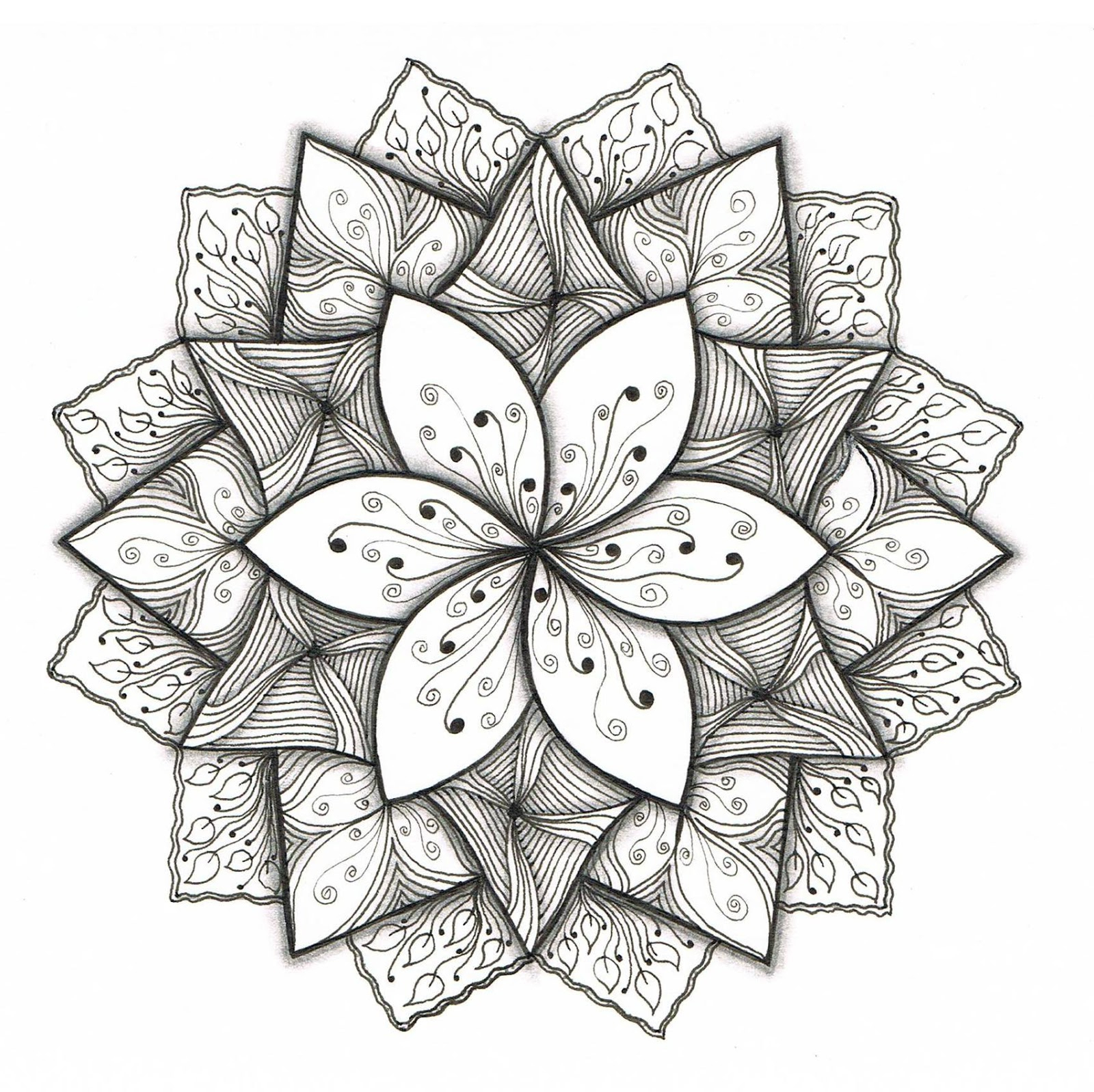 Easy Flower Designs To Draw On Paper